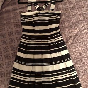 Black and white striped summer dress